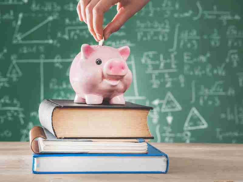 pessoa colocando moeda em um cofre em formato de porquinho